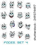 cartoon faces set with... | Shutterstock .eps vector #249374497