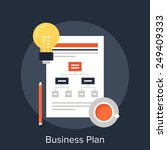 business plan | Shutterstock .eps vector #249409333