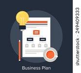 business plan | Shutterstock .eps vector #249409333