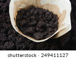 Used White Coffee Filters With...