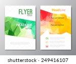 flyer template. cover magazine. ... | Shutterstock .eps vector #249416107