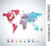 world map | Shutterstock .eps vector #249418663