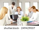 business people sitting at... | Shutterstock . vector #249429037