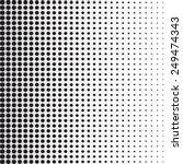 halftone dots. black dots on... | Shutterstock .eps vector #249474343