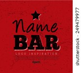 logo inspiration for bar or pub ... | Shutterstock .eps vector #249479977