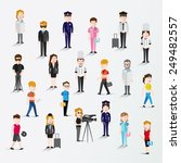 people in different occupation... | Shutterstock .eps vector #249482557