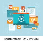 vector e learning concept in... | Shutterstock .eps vector #249491983