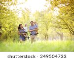 happy young family spending... | Shutterstock . vector #249504733