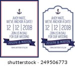 nautical save the date theme | Shutterstock .eps vector #249506773