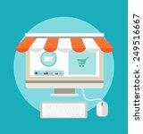 business concept. online... | Shutterstock .eps vector #249516667