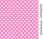 pink and white hearts polka dot ... | Shutterstock . vector #249526693