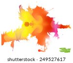 a handmade blot blob with... | Shutterstock .eps vector #249527617