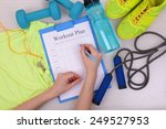 sports trainer amounts to... | Shutterstock . vector #249527953