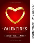 happy valentines day party... | Shutterstock .eps vector #249530947