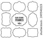 set of vintage contour blank... | Shutterstock .eps vector #249540223