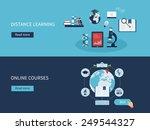 flat design modern vector... | Shutterstock .eps vector #249544327