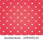 seamless pattern of hearts on a ... | Shutterstock .eps vector #249545113