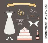 vintage set of vector wedding... | Shutterstock .eps vector #249547723