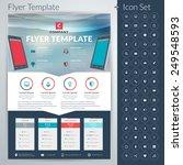 vector abstract business flyer... | Shutterstock .eps vector #249548593