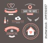 wedding set of label  badges ... | Shutterstock .eps vector #249550357