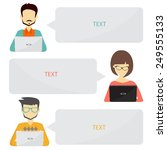 people icons with dialog idea... | Shutterstock .eps vector #249555133