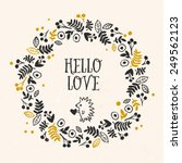 'hello love' greeting card with ... | Shutterstock .eps vector #249562123