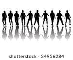 group of women in row in... | Shutterstock . vector #24956284