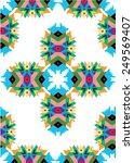 tribal ethnic print abstract... | Shutterstock .eps vector #249569407