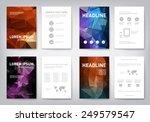 set of modern abstract brochure ... | Shutterstock .eps vector #249579547
