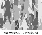 dancing people silhouettes | Shutterstock .eps vector #249580273