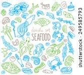 set of doodles  hand drawn... | Shutterstock .eps vector #249585793