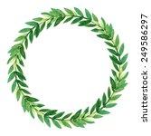 vector isolated wreath | Shutterstock .eps vector #249586297