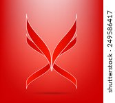 abstract red icon logo elegant... | Shutterstock .eps vector #249586417