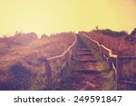 hiking trail in autumn with a... | Shutterstock . vector #249591847