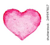 watercolor painted red heart... | Shutterstock . vector #249597817