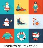 christmas icons | Shutterstock .eps vector #249598777
