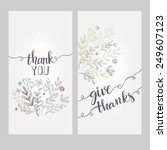 card with the words thank you | Shutterstock .eps vector #249607123