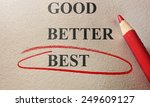 red circle and pencil good ... | Shutterstock . vector #249609127