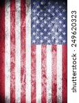 vintage american flag | Shutterstock . vector #249620323