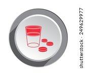 pill  drug icon. medical symbol ... | Shutterstock .eps vector #249629977