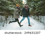 young hipster couple having fun ... | Shutterstock . vector #249631207