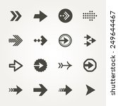 vector arrow signs icon set  | Shutterstock .eps vector #249644467