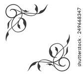 Swirl Conner Decoration Vector...