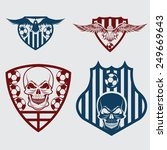 football team crests set with... | Shutterstock .eps vector #249669643