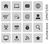 internet icons | Shutterstock . vector #249671503