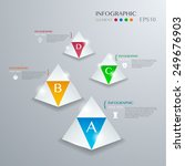 infographic with white triangle ...