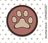 paw icon in paw background.... | Shutterstock .eps vector #249683287