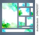 set of leaflet  brochure ...   Shutterstock .eps vector #249692557