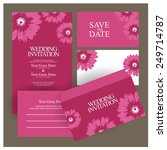 wedding invitation. vector | Shutterstock .eps vector #249714787