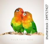 couple of parrots sitting on... | Shutterstock .eps vector #249717427